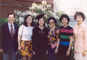 Angela Chao and family on graduation day