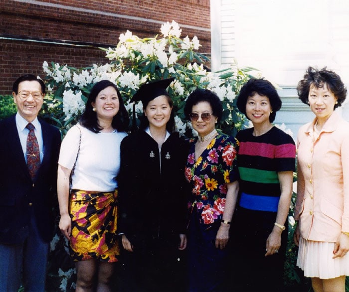 Angela Chao and her family - Harvard Graduation